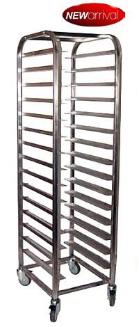 mobile tray trolley 15 shelves